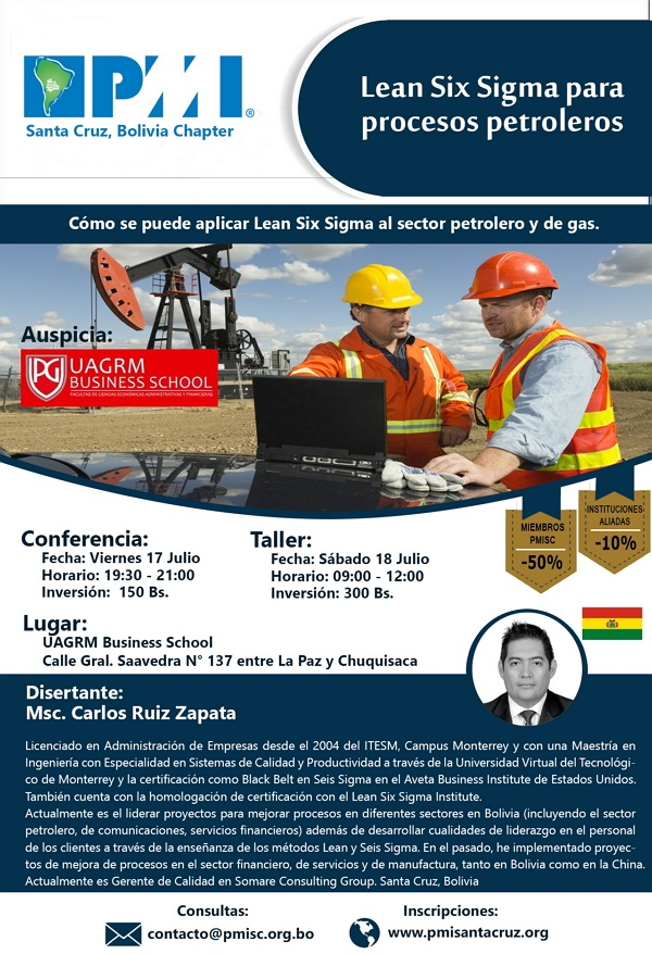 Afiche PMISC - Conf - Lean Oil Gas - 17-07-15