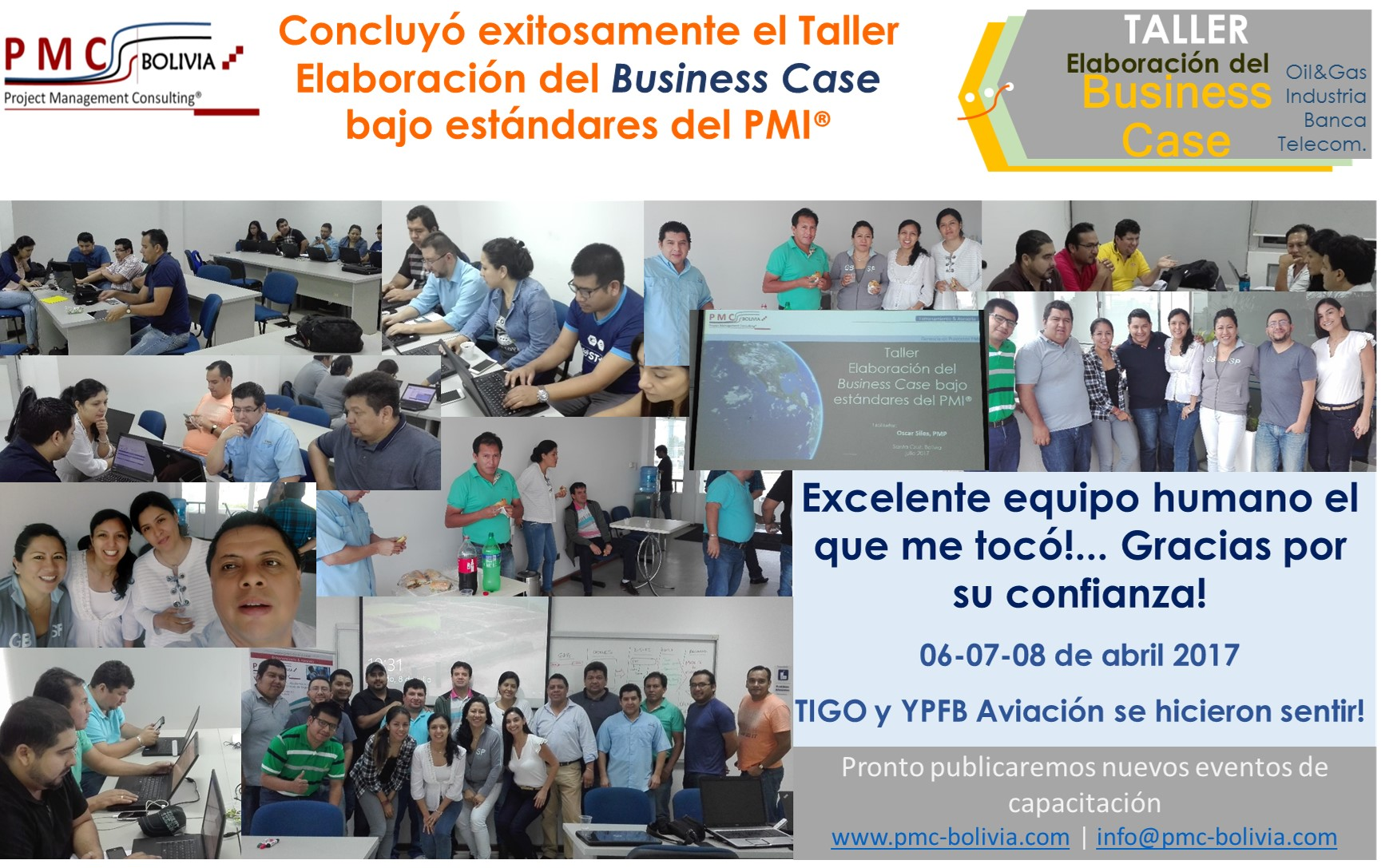 arte conclusion Taller Business Case - julio 2017 scz